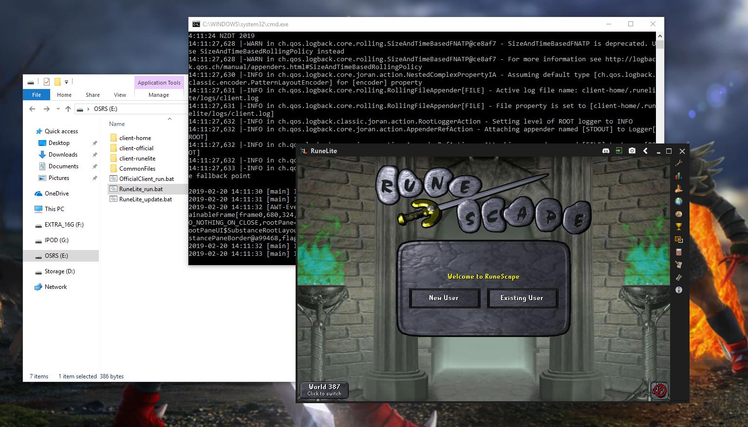 OSRSBox | Blog | Portable OSRS: Running RuneLite or the